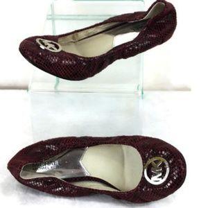 Michael Michael Kors Snake Logo Ballet Slippers